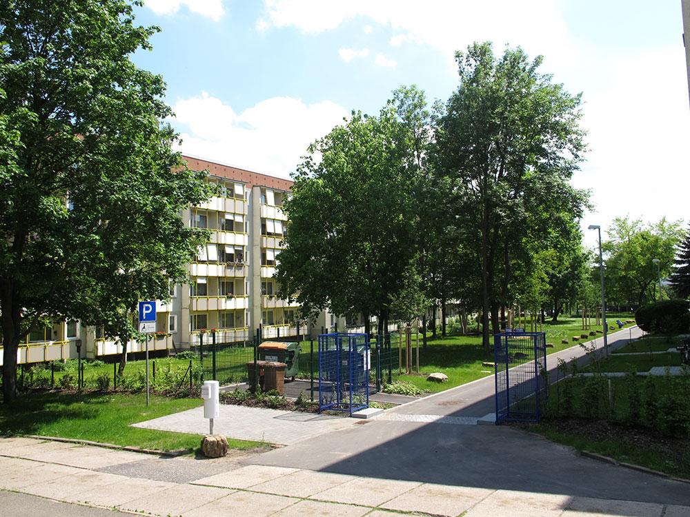 th.inka Stützpunkt Weimar - Weimar Nord – Blick in die Marcel-Paul-Str.